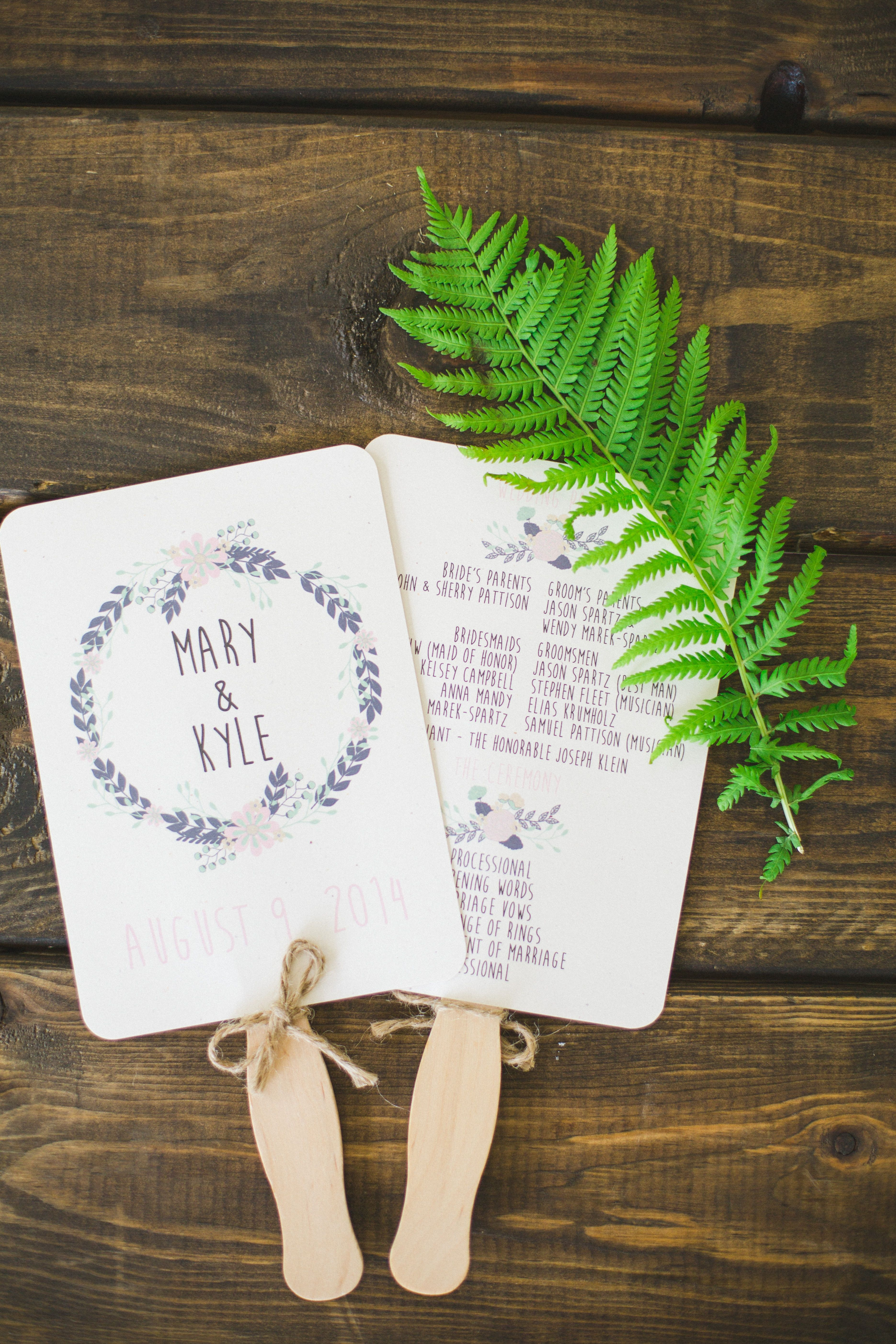 Diy wedding fan rochelle louise photography theknot our