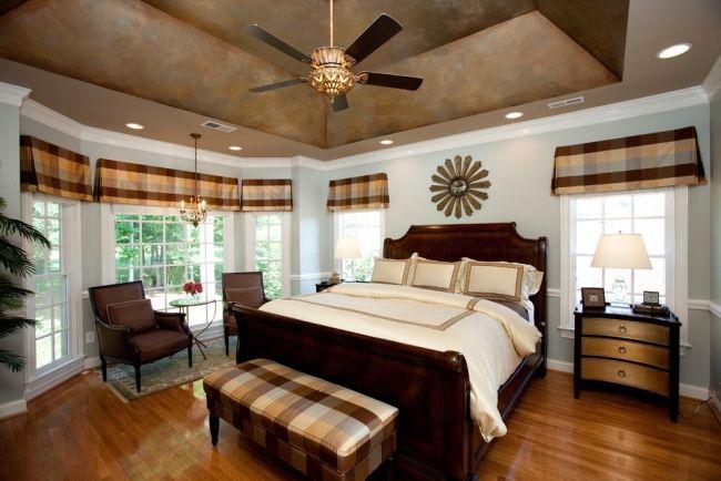 Kolonialstil Schlafzimmer ~ Schlafzimmer decke dekorative maltechniken kolonial stil