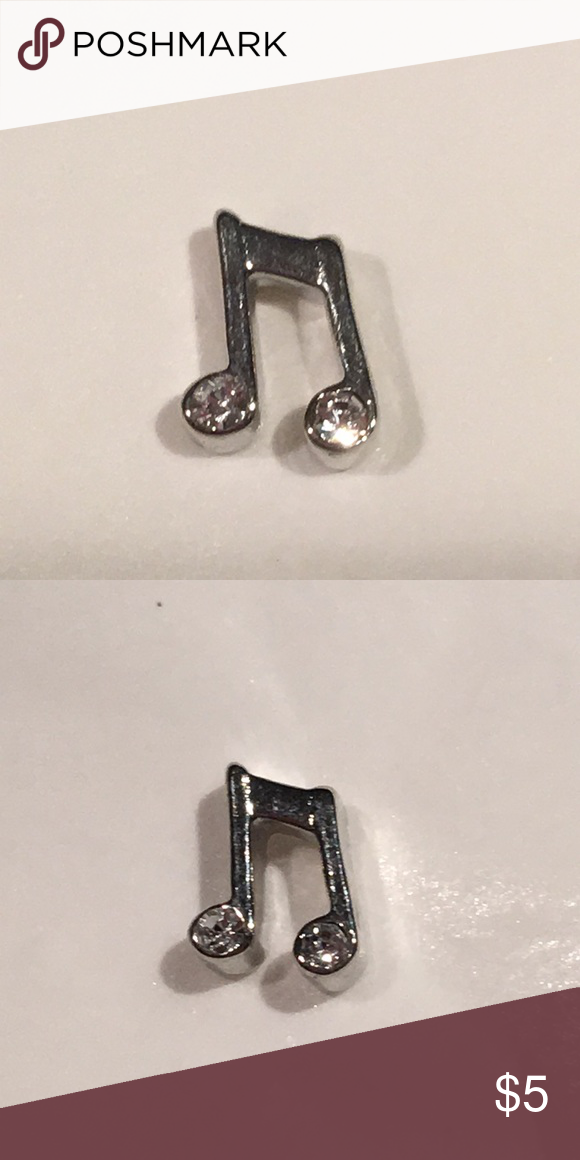 Origami Owl Charm Silver Music Notes new
