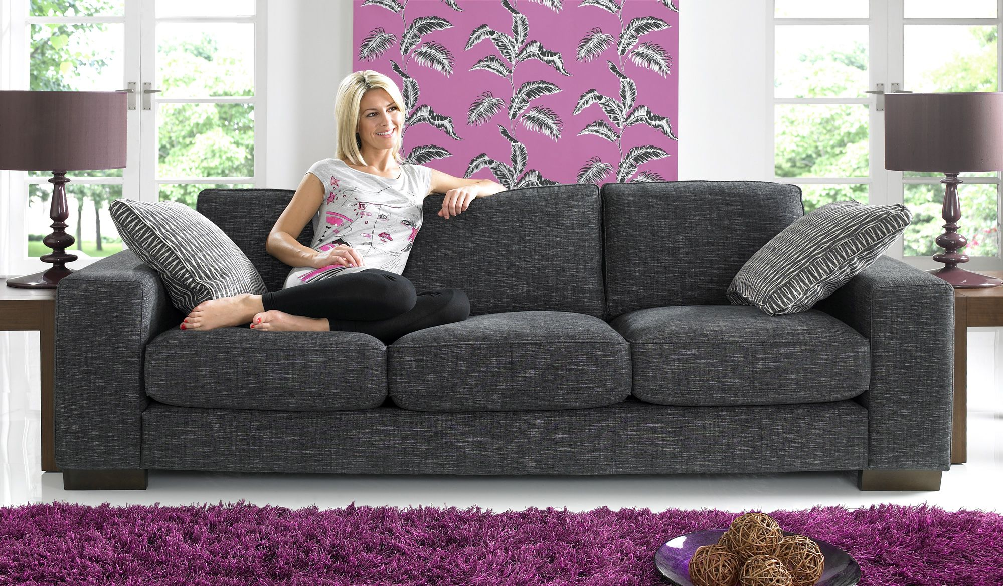 A modern style sofa that fits with todayus living With its