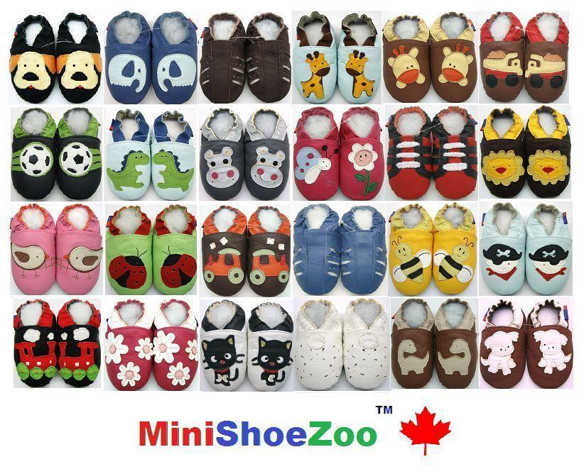MiniShoeZoo Chaussons bébé CUIR SOUPLE POUR CHAUSSURES