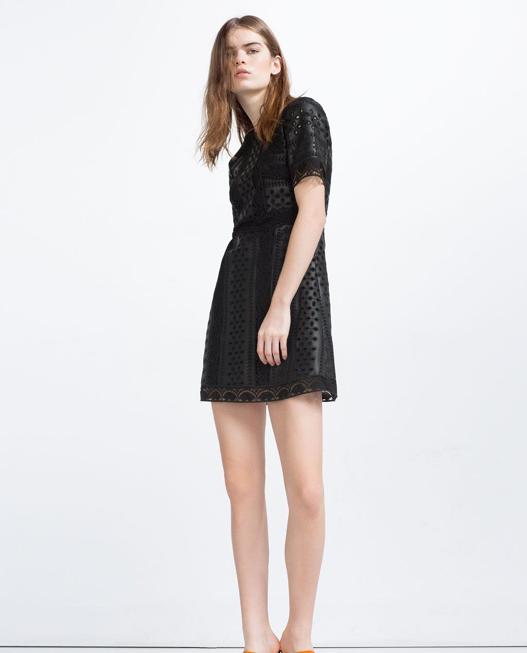 f4eefa2194 Image 1 of EMBROIDERED DRESS from Zara