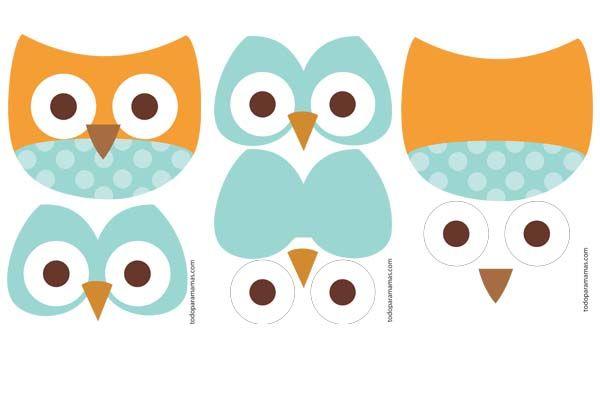 B hos para imprimir por partes owl disfraz de buho - Disfraces de buhos ...