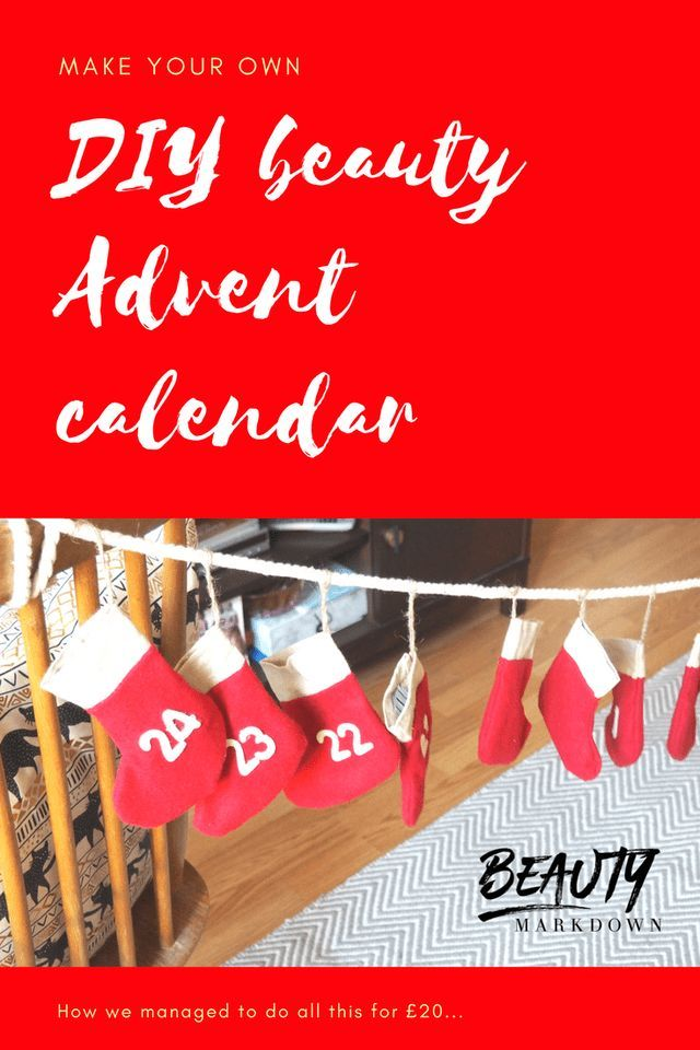 How to make a DIY beauty Advent calendar General Pinterest