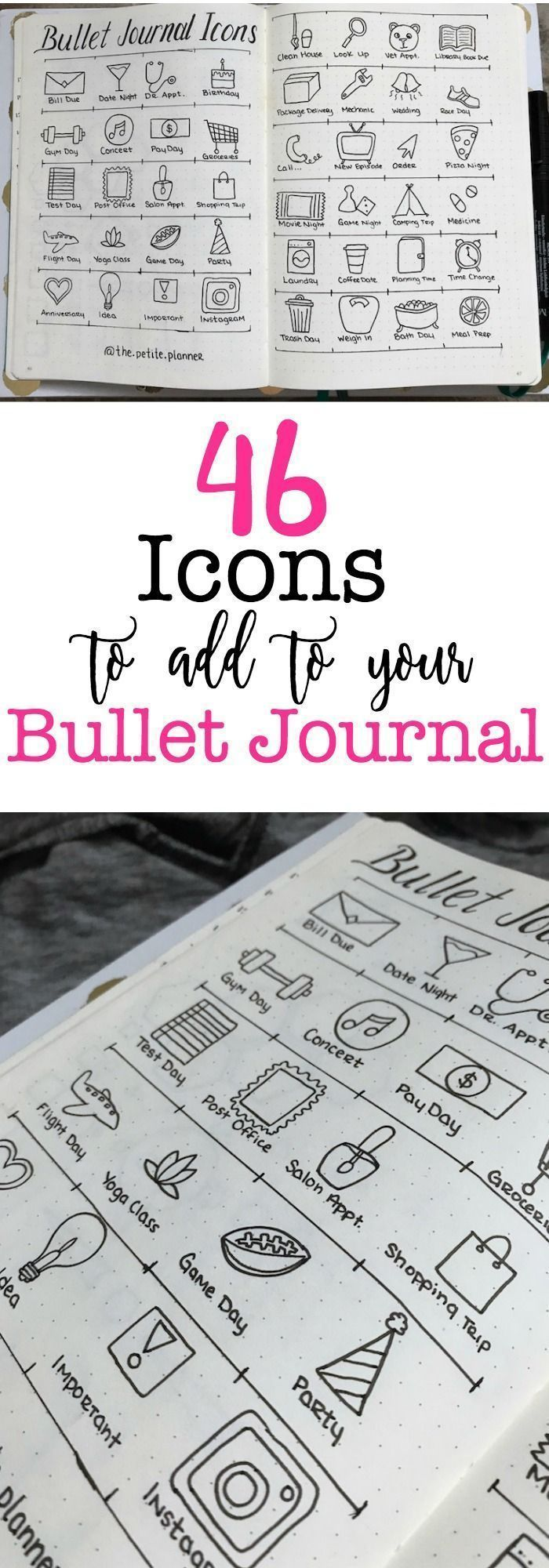 46 Icons for Your Bullet Journal ⋆ The Petite Planner