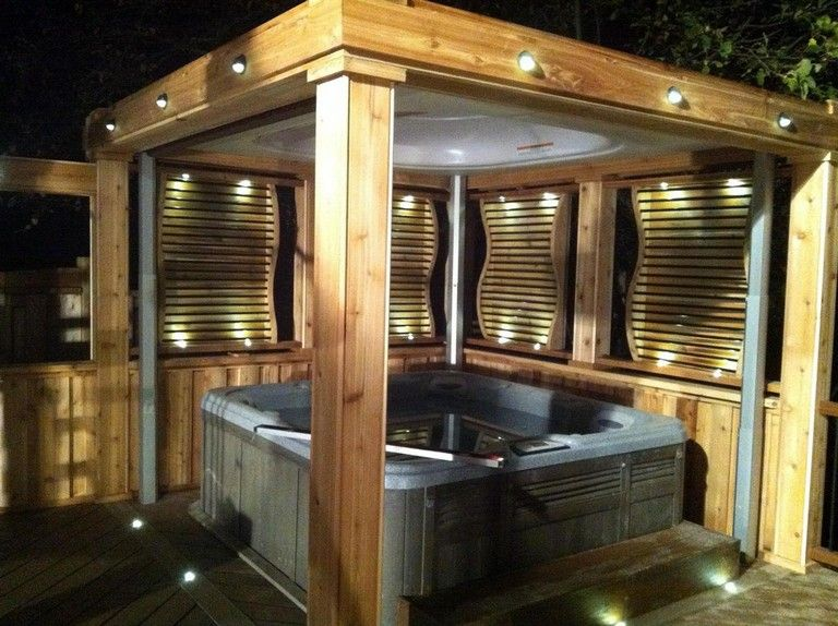 32 Beautiful Outdoor Hot Tub Privacy Ideas Page 8 Of 32 In 2020