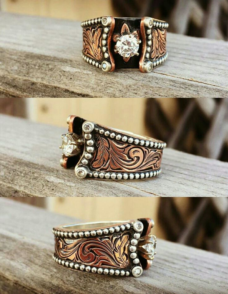 wedding rings absolutely beautiful custom copper and sterling ring - Western Style Wedding Rings