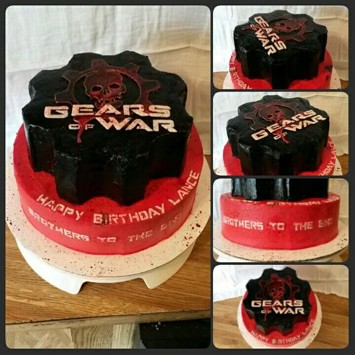 Gears of War birthday cake from Sweet Dreams Bakery Tennessee