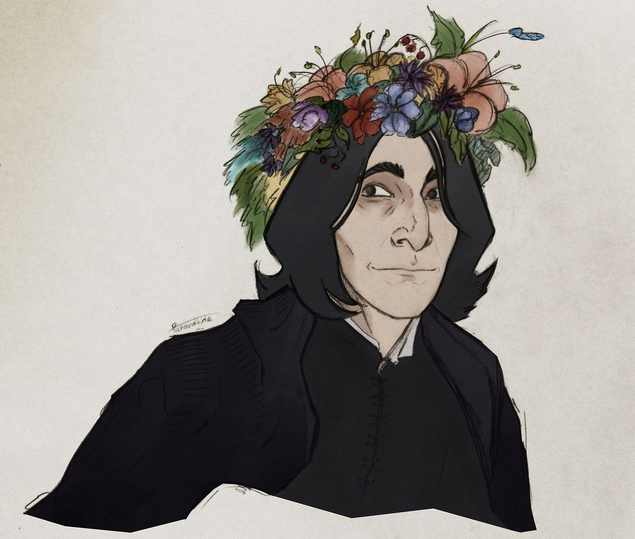 Typical potterhead perselus piton sev my love let me just give you a fancy flower crown izmirmasajfo Images