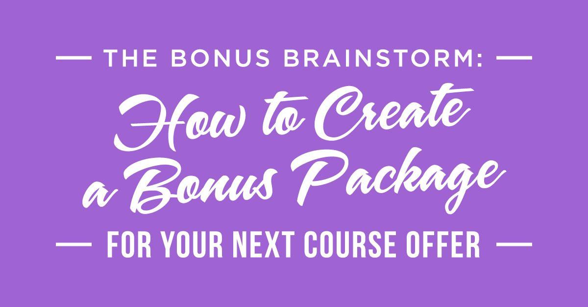 Are you looking to create amazing bonuses that will make your offer - copy business blueprint workshop