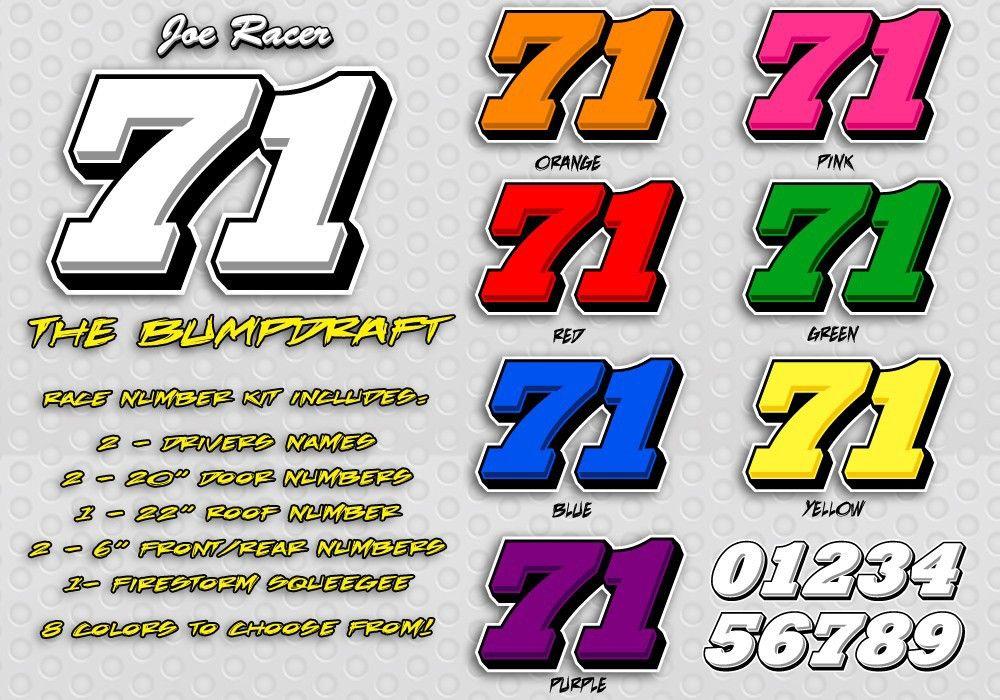 bumpdraftracecarnumberdesigns Number fonts