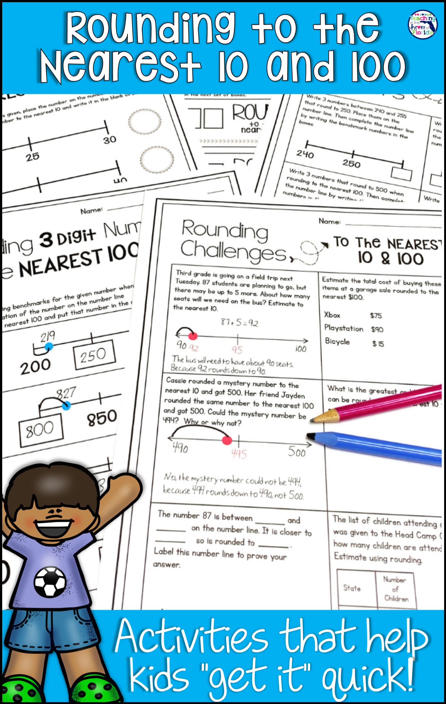 Rounding To The Nearest 10 And 100 Worksheets