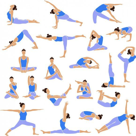 Картинки по запросу асаны йоги | Yoga, Yoga set, Silhouette illustration