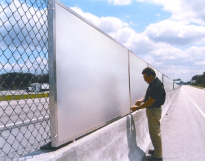 Showing sound barrier Fencing Acoustic sound Barrier Fencing in