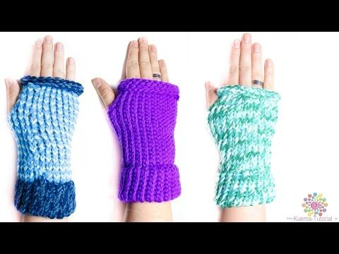 Kntting Loom - Stulpe | fingerlose Handschuhe