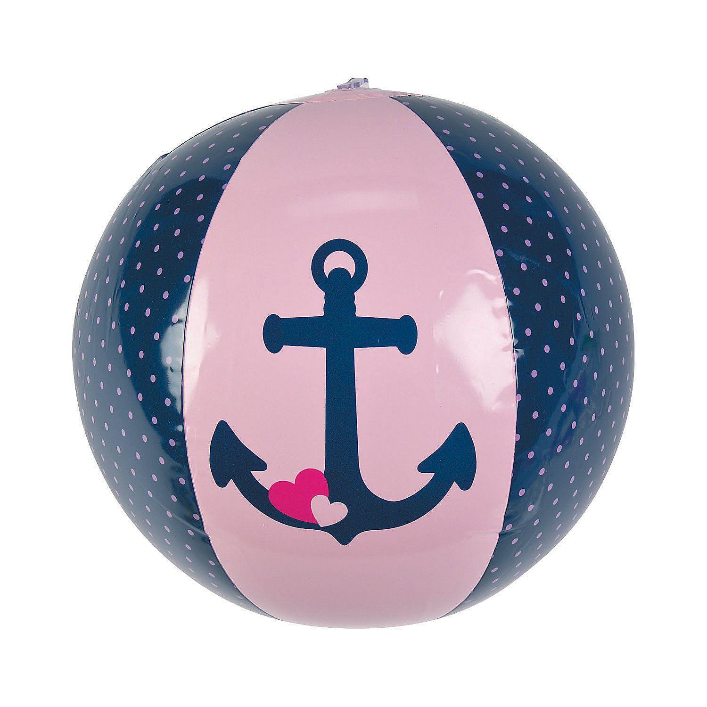 Inflatable+Nautical+Girl+Beach+Balls+ +Orientaltradingcom
