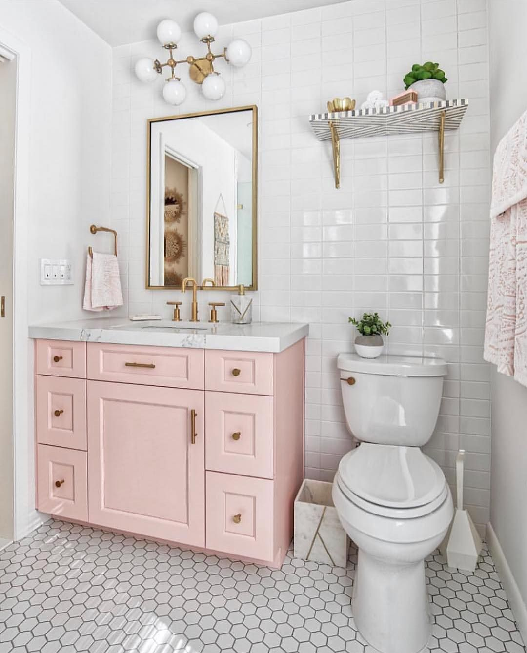 Pink Grey And White Bathroom Ideas