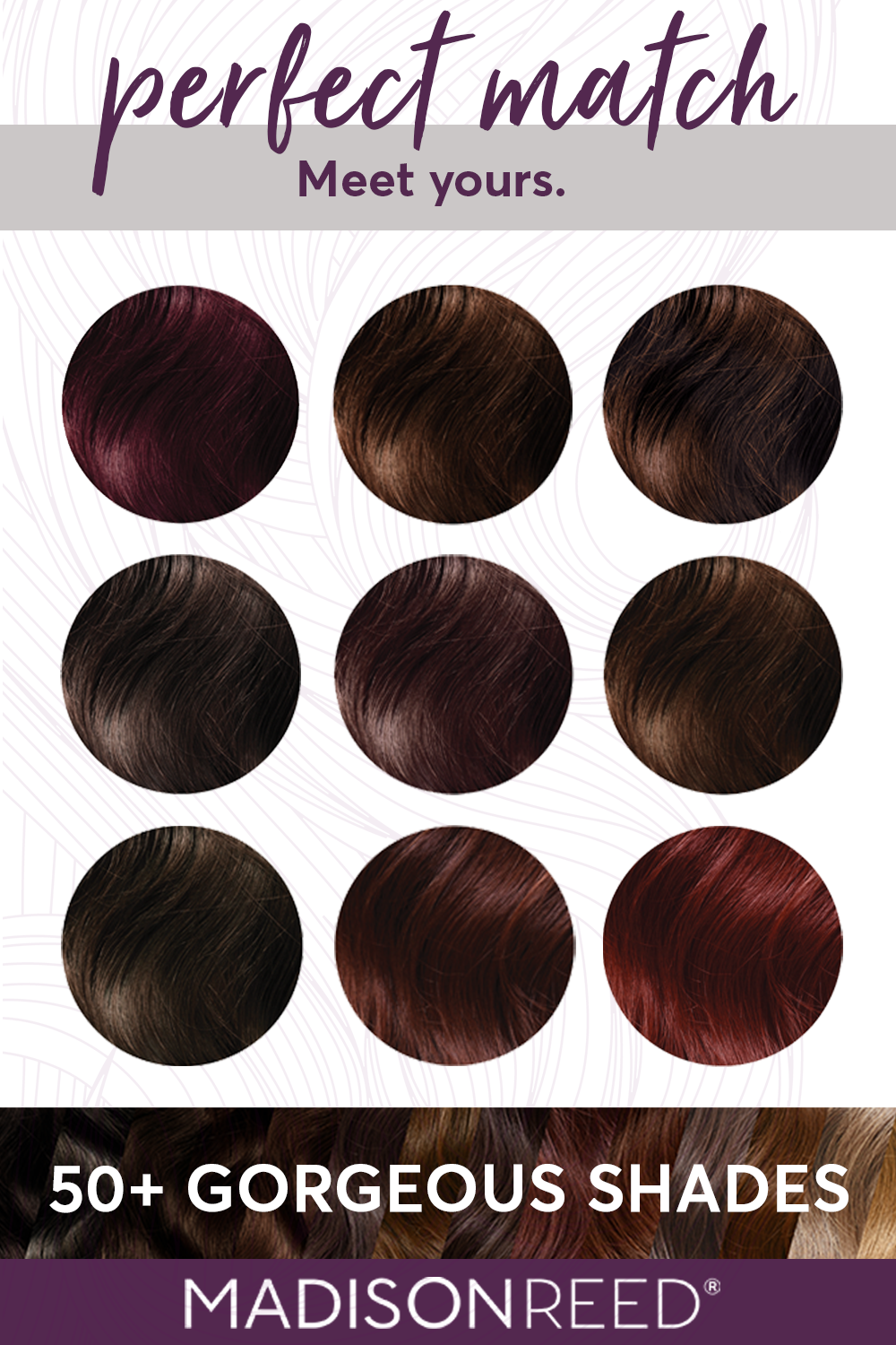 Take The Color Quiz To Find Your Perfect Hair Color Shade Aubergine Purple Hair Hot Chocolate Br Hair Color For Black Hair At Home Hair Color Hair Color Quiz