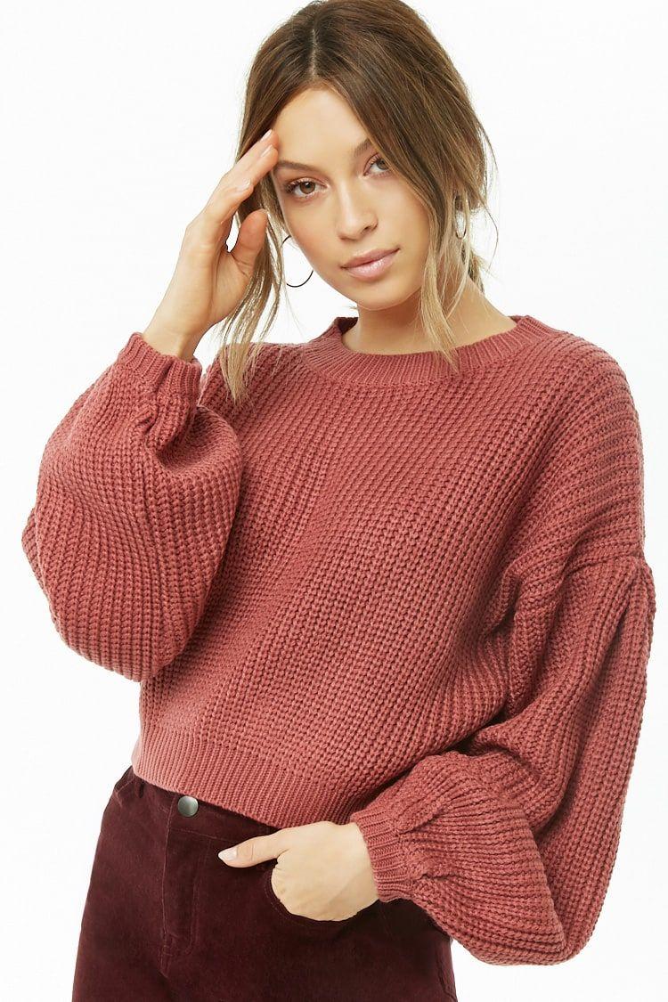 Sweater Knit Crop Top   Knit crop top, Fancy sweater