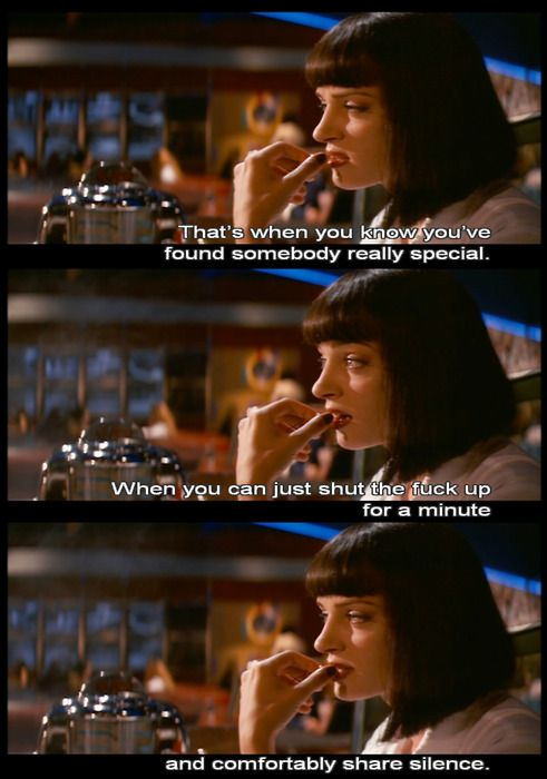 I could repin Tarantino films all day. Though this line ...