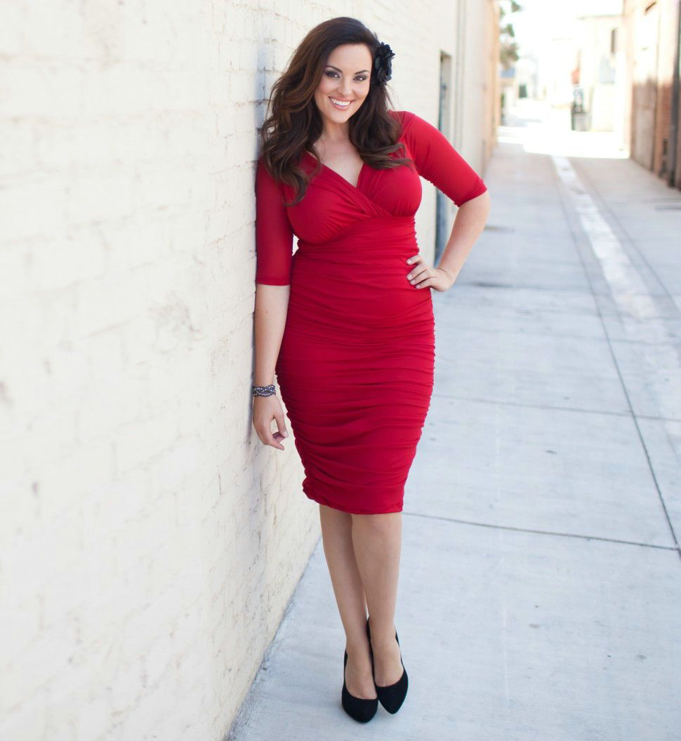 Red dresses plus size cheap