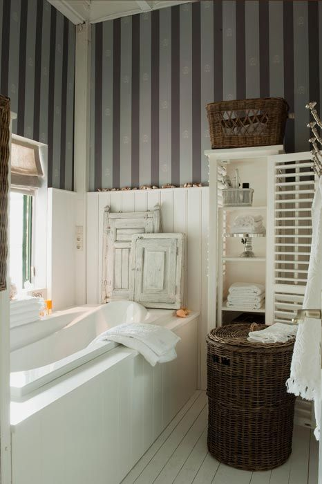Love the feel of this bathroom. Riviera Maison via Inspirational Homes.
