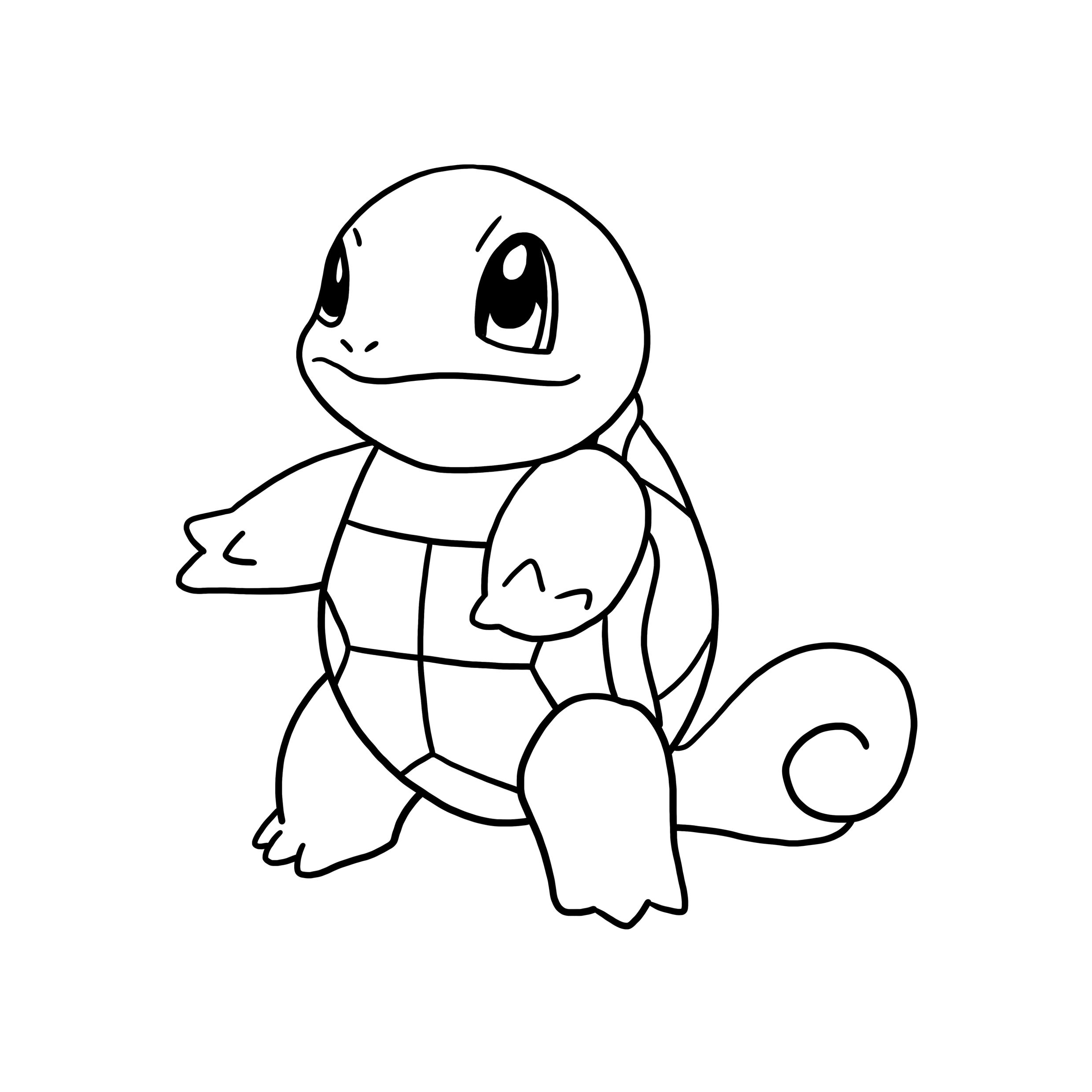 Pokemon Drawing Squirtle Sketch Coloring Page Coloring Home In