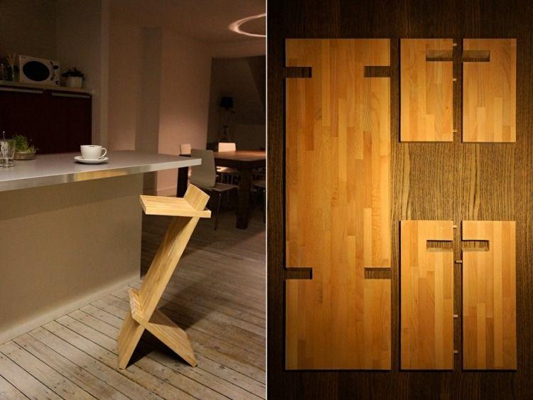 Design · Meubles En Palettes   Chaise De Bar De Design Original