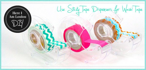 Diy Washi Tape use scotch tape dispensers to hold washi tape #craft | 13 story
