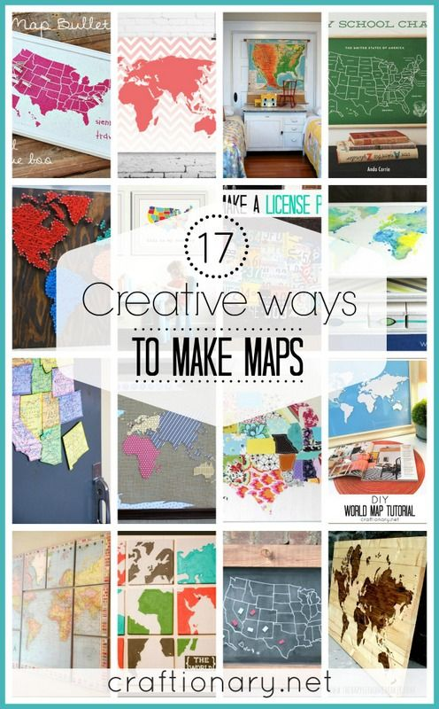 17 creative diy map tutorials creative craft and tutorials 17 creative diy map tutorials gumiabroncs Choice Image