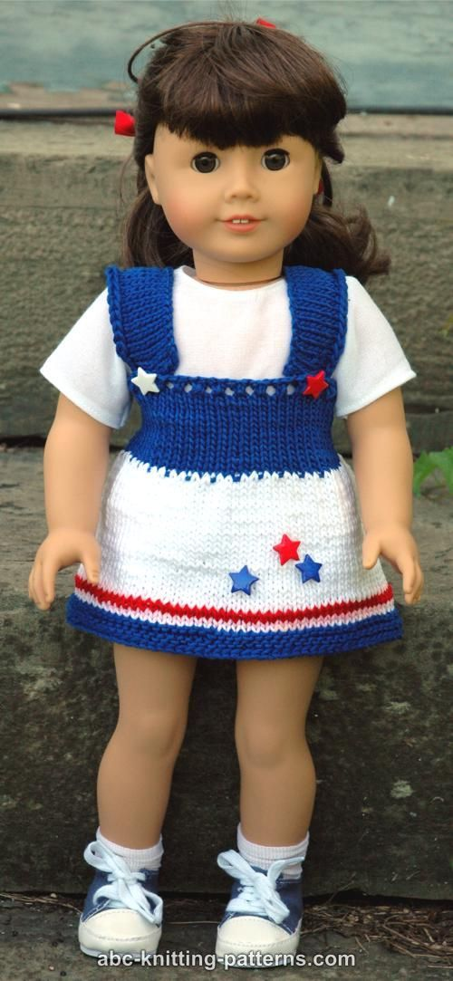 American Girl Doll 4th of July Jumper by Elaine Phillips - http ...