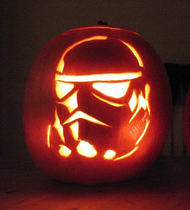 Pumpkin Carving Ideas Star Wars: 33 Star Wars Pumpkin Carvings (Star Wars Jack-O-Lanterns