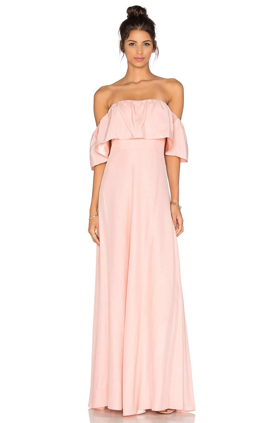 Amanda Uprichard Delilah Maxi Dress in Dusty Rose | vestidos de boda ...