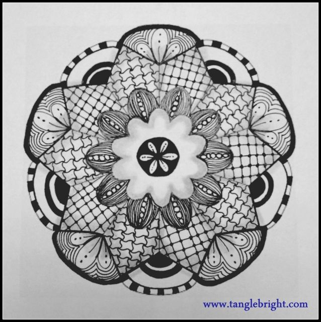 zentangle circle patterns step by step - Google Search | Zentangle ...