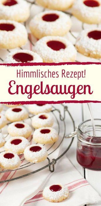 Weihnachtsplätzchen mit Marmelade: Rezept für Engelsaugen #weihnachtskuchenrezepte