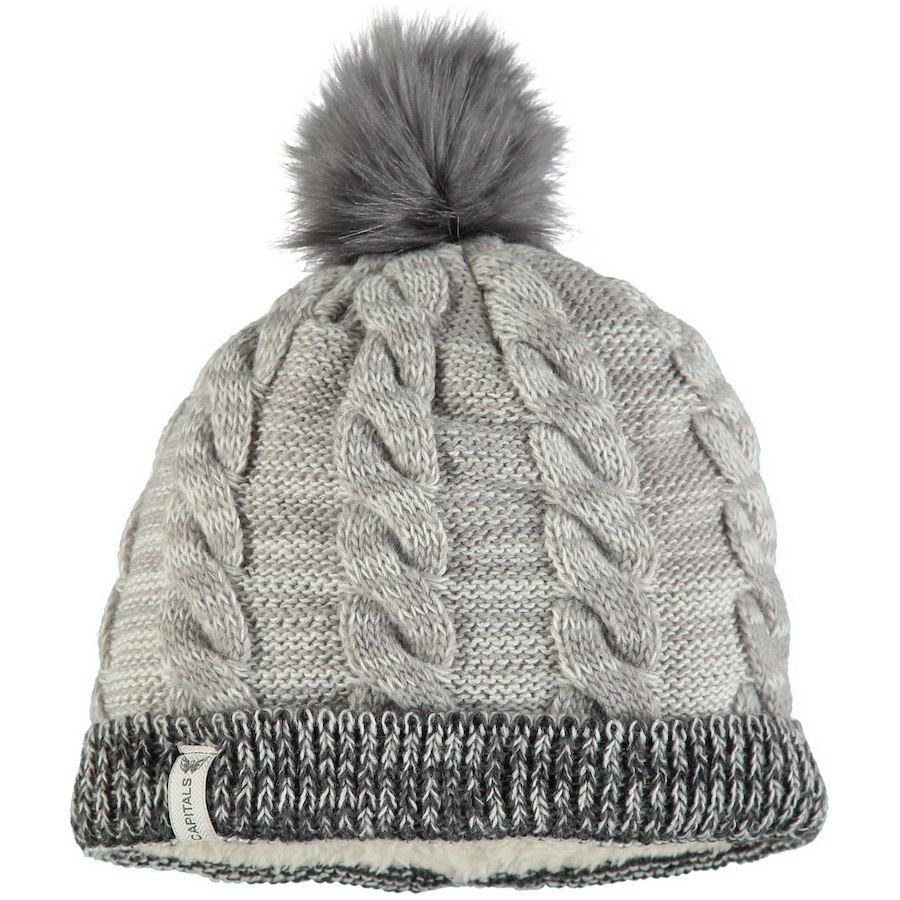 huge discount 5259f 4e81a Women s Washington Capitals New Era Gray Cozy Team Cuffed Knit Hat with  Pom, Your Price   25.99