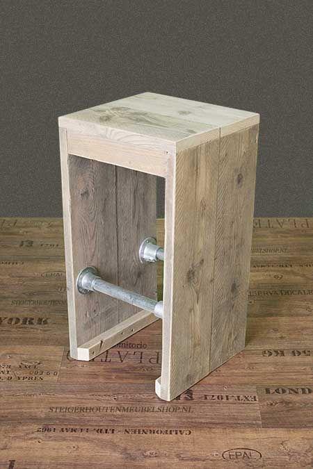 Steigerhouten barkruk heel makkelijk zelf te maken for Bankje steigerhout zelf maken