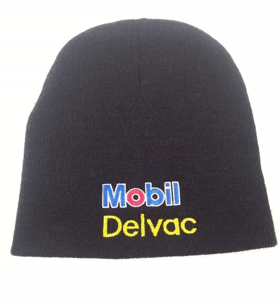 Mobil Delvac Beanie Cap Diesel Motor Engines Oil Gas Winter Hat Embroidered   56c029319b02
