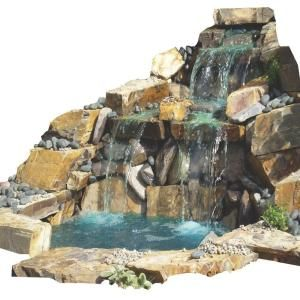 Pond And Waterfall In A Box Free Form Waterfall Kit 700052 At The Home Depot 849 Pond Kits Pond Water Features Pond