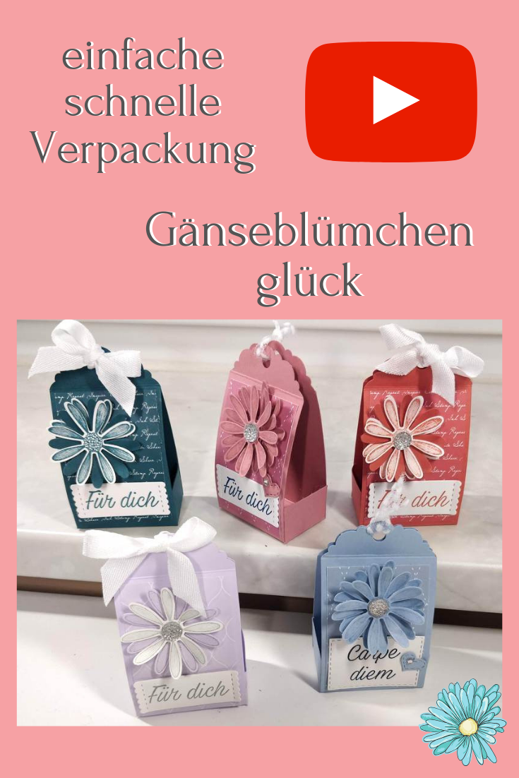 Verpackung Stampin Up Gänseblümchenglück Vintage