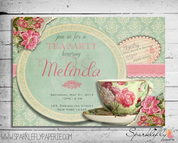High Tea Invitation Template Invitation Templates J9tzTMxz ...