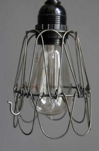 Industrial Metal Wire Lamp Cage Shade @ Rockett St. George. £12.50
