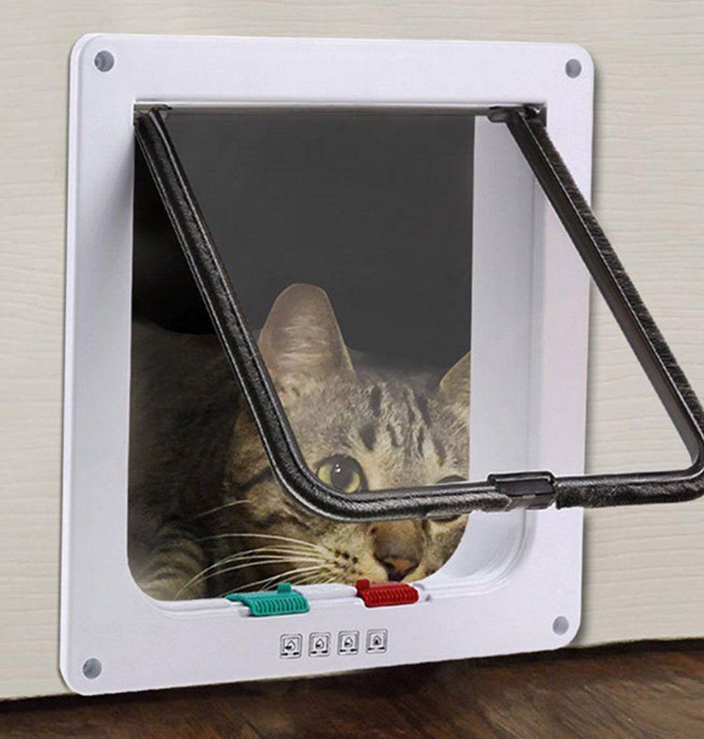 Ceesc Cat Flap Door Magnetic Pet Screen Door With 4 Way Lock For