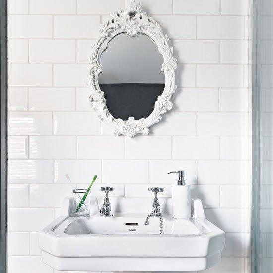 Take A Look Inside This Period Meets Modern Bathroom. Ornate MirrorMirror  ...