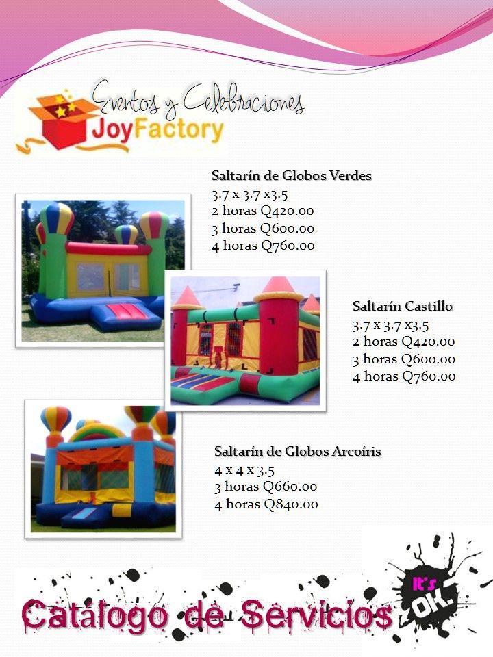 Gran Variedad De Inflables Para Tu Celbracion Fiestas Infantiles Globos Verdes