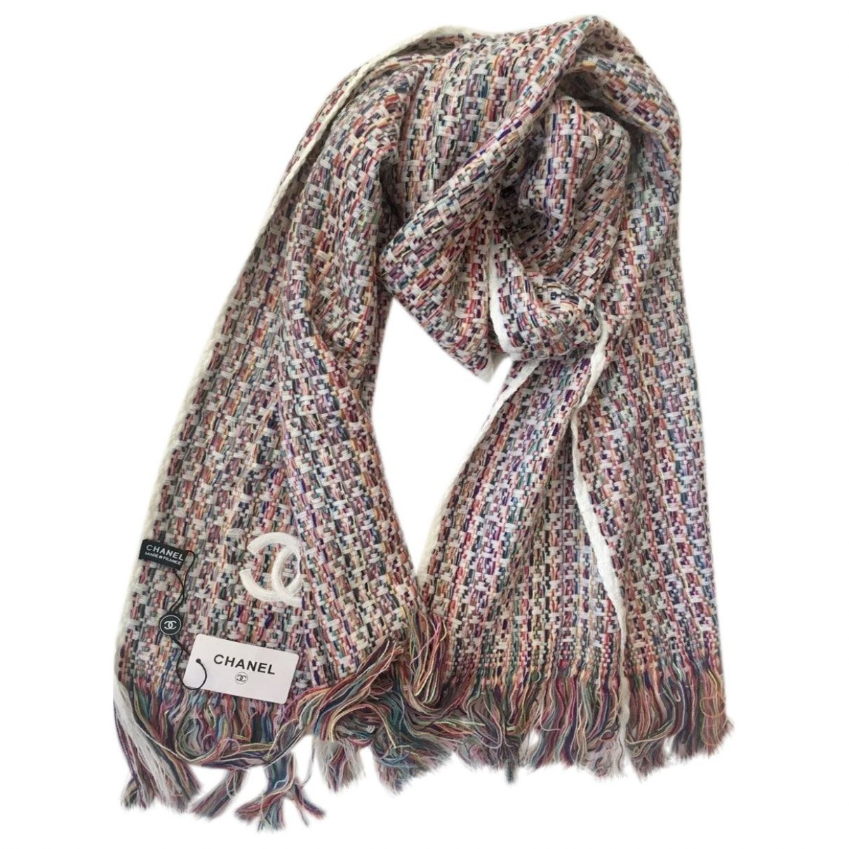 0afdaada251 CHANEL Cashmere scarf Chanel Scarf, Closet Accessories, Women Accessories,  Luxury Consignment, Cashmere