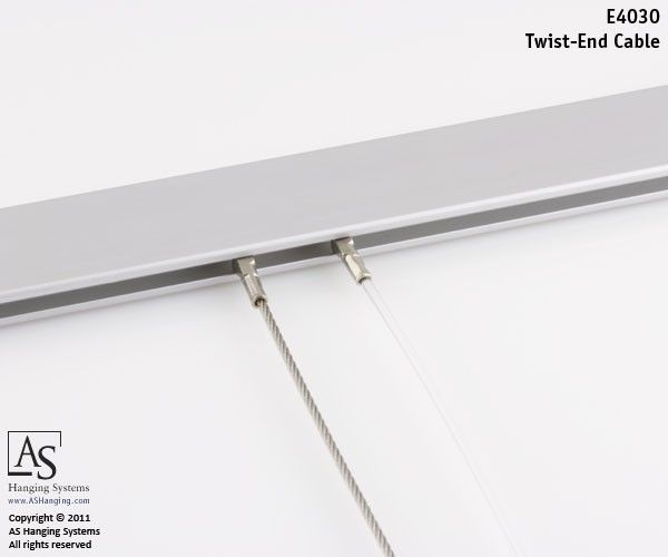 Twist End Cable As Hanging Systems Art Hanging System Art Studio At Home Hanging Art