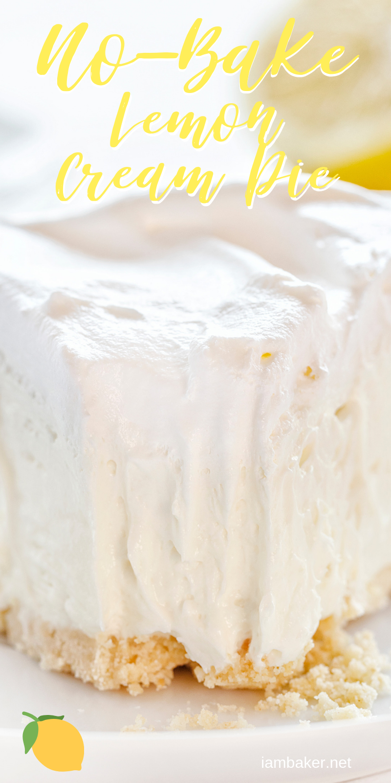 This No Bake Lemon Cheesecake Cream Pie is smooth, velvety, and has the perfect amount of lemon! Super easy to make! 24488391711497846