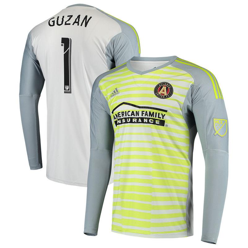 half off fb837 3ee57 Brad Guzan Atlanta United FC adidas Goal Keeper Long Sleeve ...