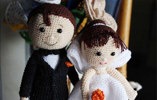 Sposi Schema Gratis Free Uncinetto Crochet Amigurumi Bambole Bambini